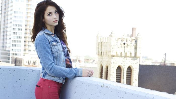 emily rudd, brunette, model, girl, blue eyes