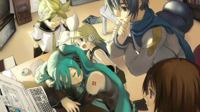 Kagamine Rin, Vocaloid, Hatsune Miku, Meiko, Kagamine Len