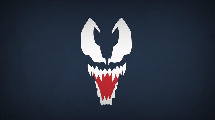 spider, man, Venom, minimalism, Blo0p, villain