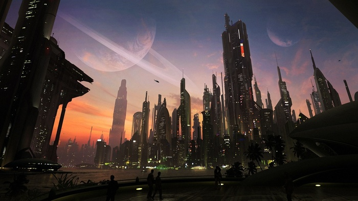 cityscape, city, matte paint, concept art, futuristic, digital art, urban