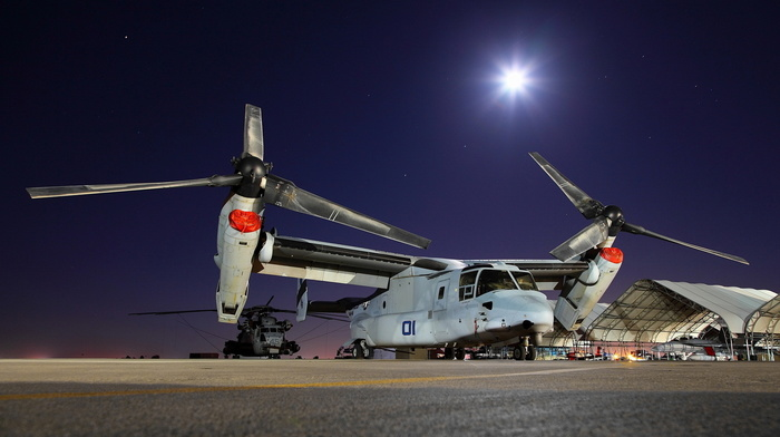 airplane, helicopter, stars, aircraft, USA, moon, night
