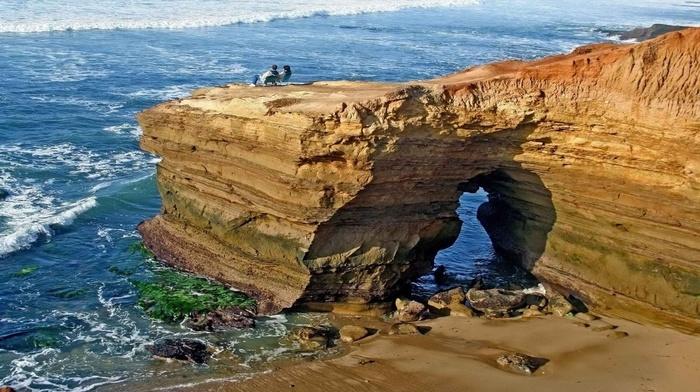 people, beauty, wave, rocks, stunner, ocean