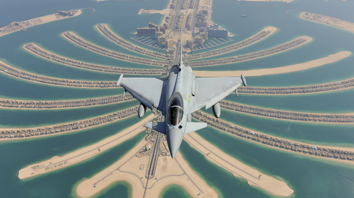 airplane, jet fighter, fly, speed, aircraft, sea