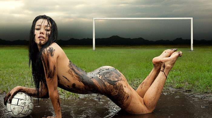 girls, soccer, model, sexy