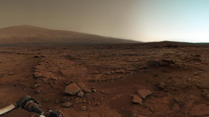 landscape, Curiosity, Mars, space