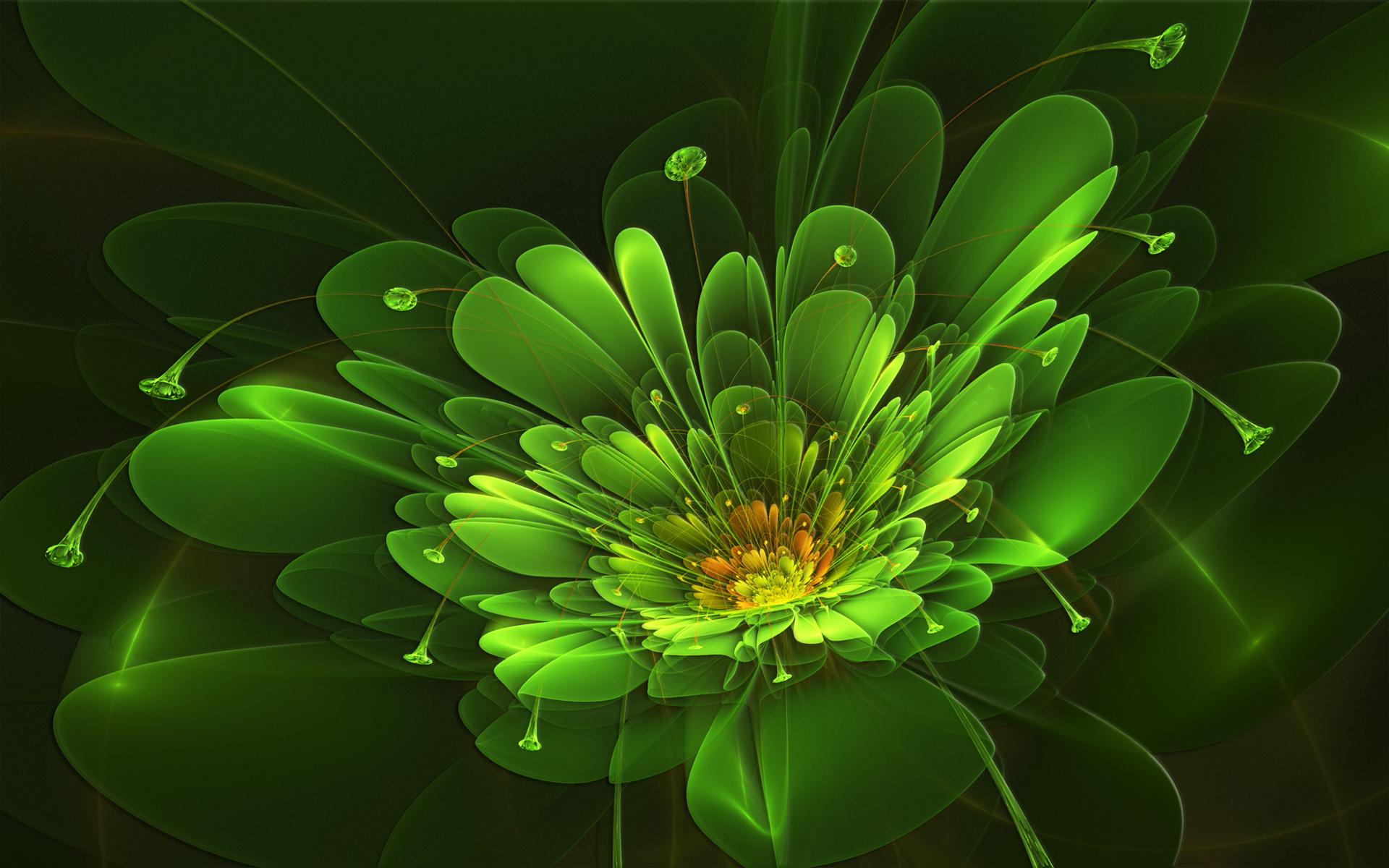 Обои для рабочего стола абстракция цветок