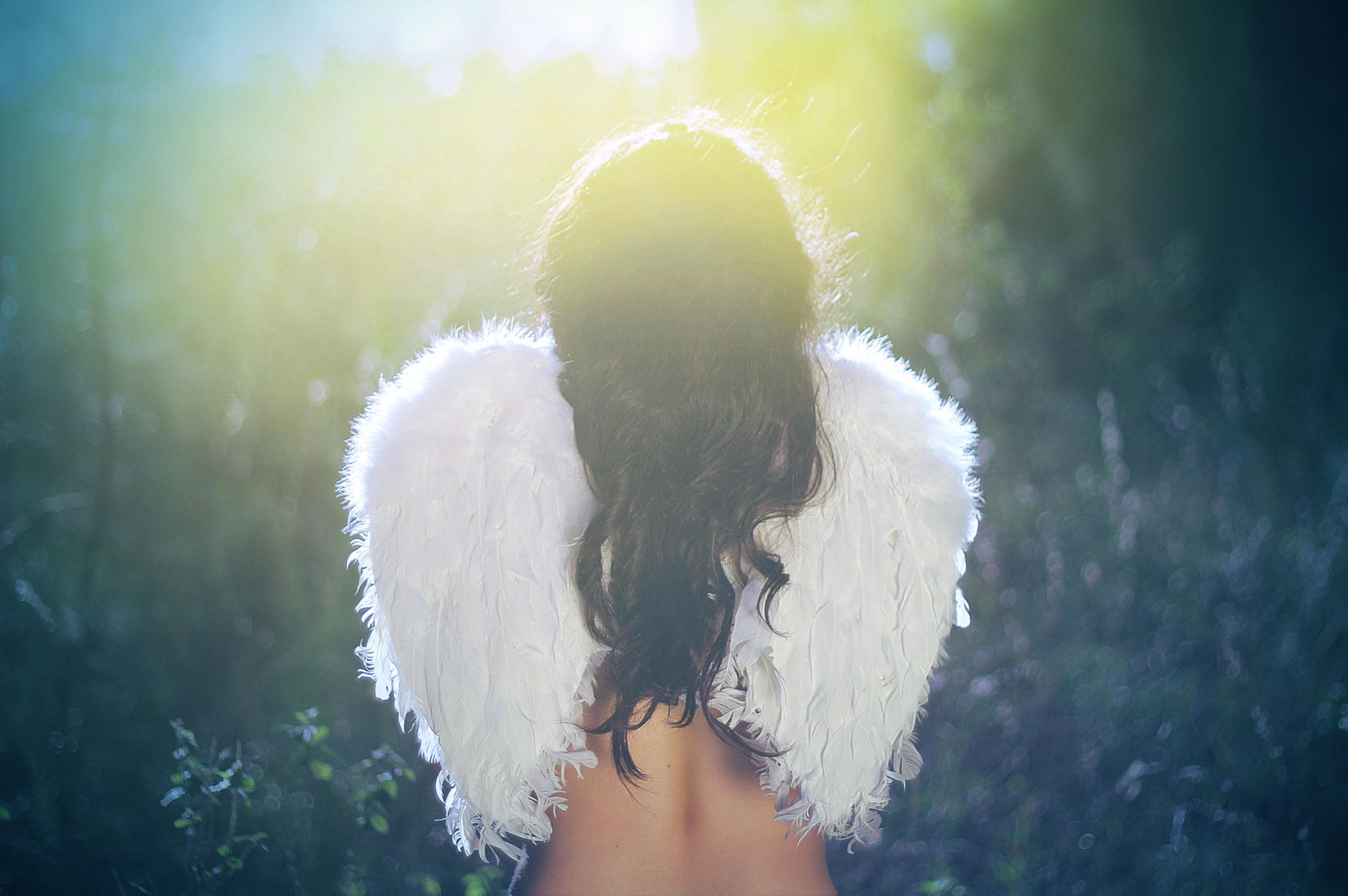 фото девушки-ангела с крыльями
