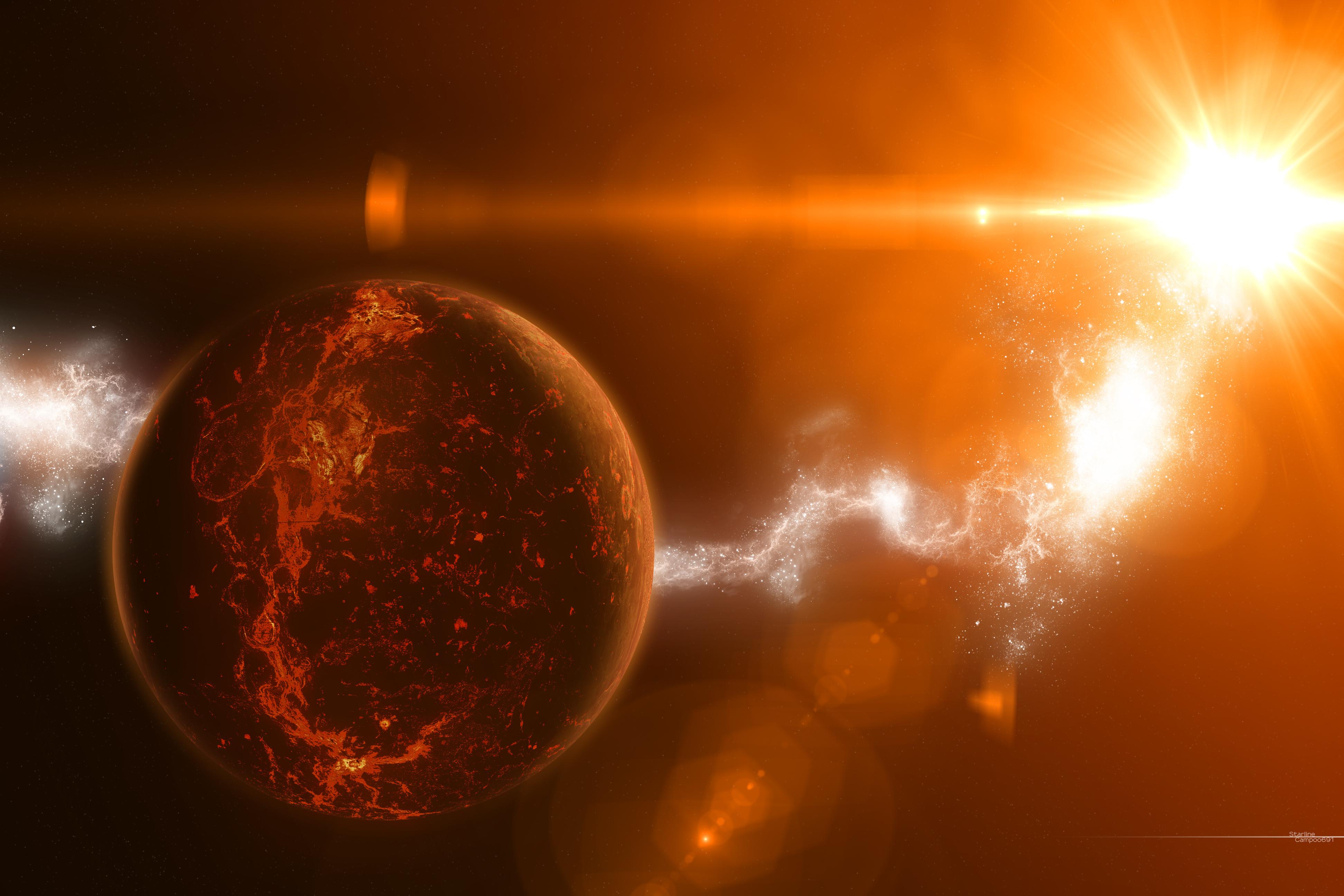 звезда, свет, планета, Star, излучение, температура