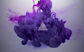 paint in water, abstract, smoke, digital art, purple, Alberto Seveso
