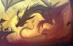 medieval, fantasy art, dragon