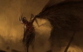 фантастическое исскуство, крылья, рога