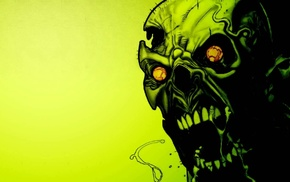 green, zombies