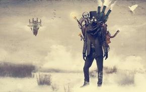 steampunk, gas masks