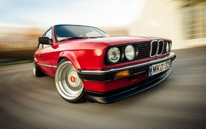 sports car, drift, BMW E30, muscle cars, BMW, motion blur
