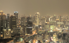 panorama, cities, road, Japan, city