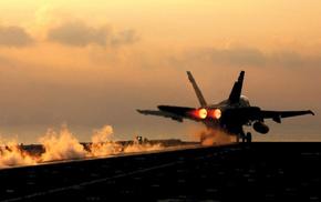 aircraft, smoke, fire