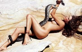 girls, girl, snake