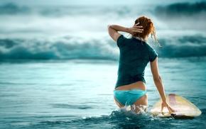 surfing, brunette, girl, surfers