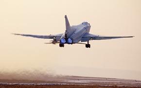 Самолёт, взлёт, закат, авиация
