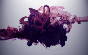 smoke, paint in water, ink, abstract