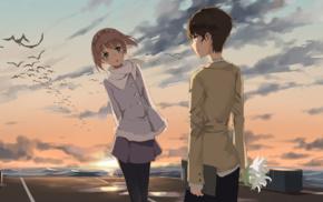 девушки из аниме, аниме, парни из аниме