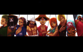 Monkey D. Luffy, Usopp, Nico Robin, Sanji, Tony Tony Chopper, One Piece