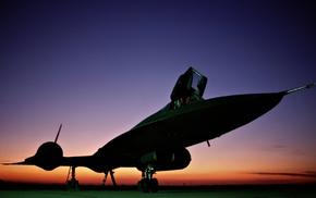 sunset, airplane, aircraft