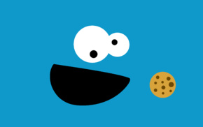 Sesame Street, Cookie Monster, minimalism