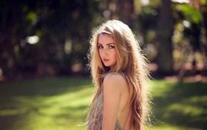 блондинка, девушка, веснушки