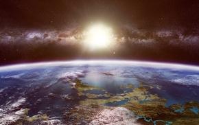 планета, млечный путь, Космос, звезды