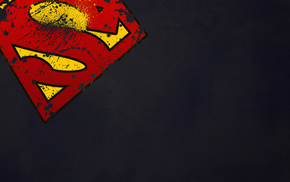 супергерой, супермен, минимализм, Superman, логотип, символ