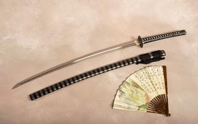 katana, gun, sword