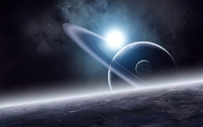 space, stars, satellite, surface, planets