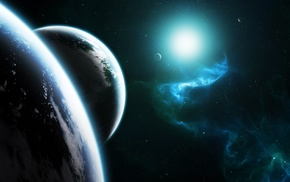planets, nebula, stars, space