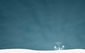 wallpaper, tree, style, minimalism, snow