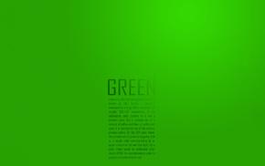 green, minimalism