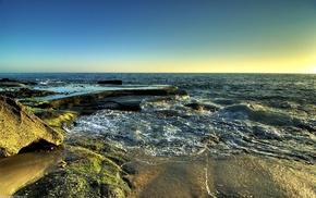 beach, stunner, horizon, sunset, sea