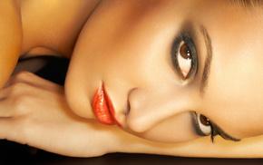 girls, face, makeup