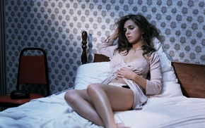 girls, bed, legs