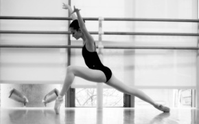 black and white, girl, sports, ballerina