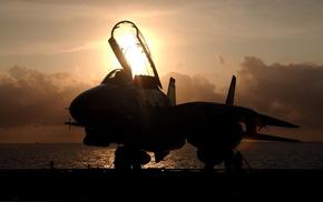 закат, авиация, tomcat, F-14