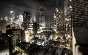 city, New York City, night, cities