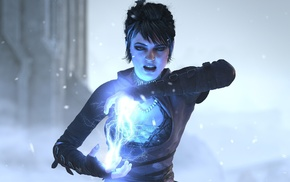 girl, lightning, Dragon Age, video games