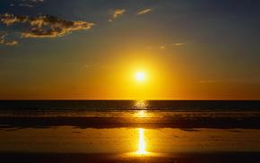 ocean, beach, summer, nature, sand
