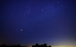 nature, moon, stars, sky