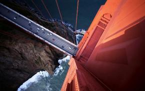 bridge, stunner, height, cars, view