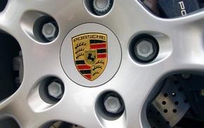автомобили, капот, Порш, лого