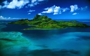 природа, бора-бора, Море, французская полинезия, остров