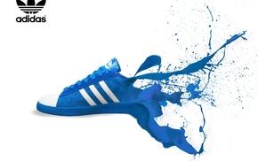 blue, sports, color, splash, adidas