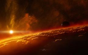 atmosphere, Sun, light, space, stars